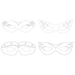 Parti Dünyası - Superhero Girl Boyanabilir Maske 12 Adet