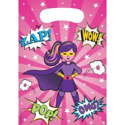 Parti Dünyası - Superhero Girl Hediye Poşeti 8 Adet