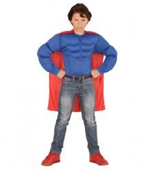 Parti - Superman Çocuk Kostümü ve Pelerini