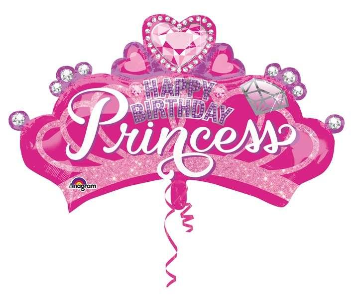 Taç Happy Birthday Princess Jumbo Folyo Balon