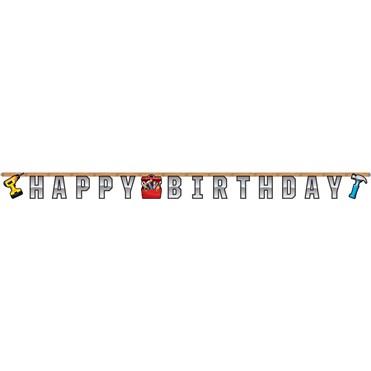 Tamirci Partisi Happy Birthday Harf Afiş