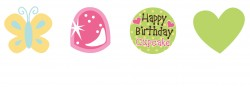 Parti Dünyası - Tatlı Cupcake 12 li Kek Süsü 7 cm
