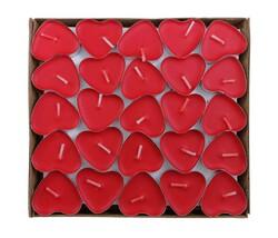 Parti Dünyası - Tealight Kalp Mum 50 Adet