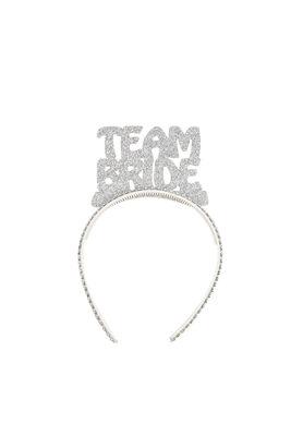 Team Bride Simli Gümüş Taç