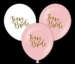 Parti Dünyası - Team Bride Beyaz-Gold Baskılı 100 lü Latex Balon