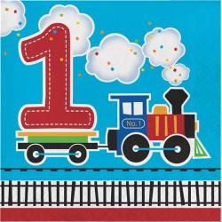 Parti Dünyası - Trenlerim 1 Yaş Peçete 16 Adet