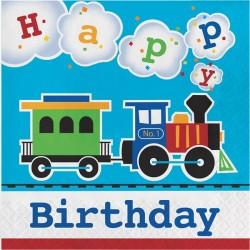 Parti Dünyası - Trenlerim Happy Birthday Peçete 16 Adet