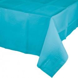 - Turkuaz Mavi Masa Örtüsü 274 cm X 137 cm ebadında