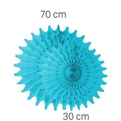 Turkuaz Renk Yelpaze Süs Seti 2 Adet 70-30 cm