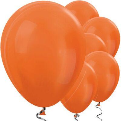 Turuncu METALİK Balon 10 Adet