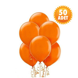 Parti - Turuncu Renk 50 Li Latex Balon