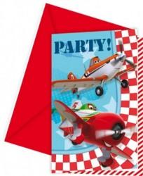Parti Dünyası - Uçaklar 6 lı Davetiye