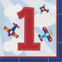 Parti Dünyası - Uçaklar Partisi 1 Yaş Peçete 16 adet