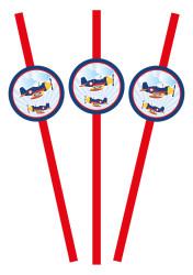 Parti Dünyası - Uçaklar Partisi 25 li Pipet