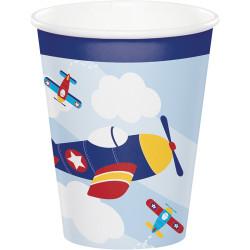 Parti Dünyası - Uçaklar Partisi 8 li Bardak