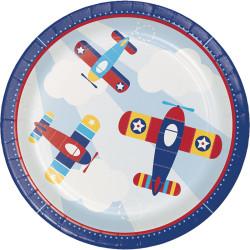 Parti Dünyası - Uçaklar Partisi 8 li Tabak