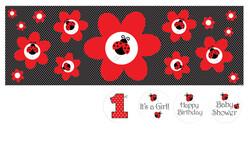 Parti Dünyası - Uğur Böceği Dev Afiş Çok Amaçlı Etiketli 50 x 152 cm