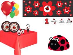 Parti Dünyası - Uğur Böceği Parti Seti 16 Kişilik