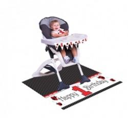 Parti Dünyası - Uğur Böceği Partisi Mama Sandalyesi Süsleme Kiti