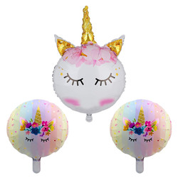 Parti - Unicorn 3 Lü Folyo Balon Set