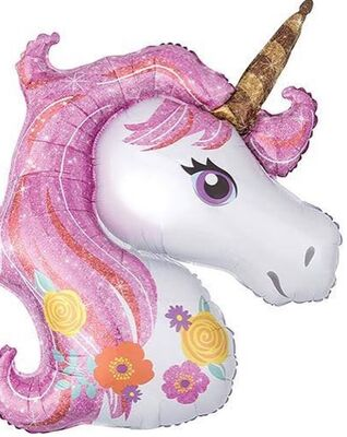 Unicorn Folyo Balon Seti 3 lü Paket