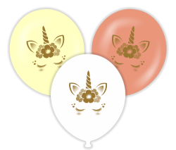 Parti - Unicorn Gold Baskılı 100 lü Latex Balon
