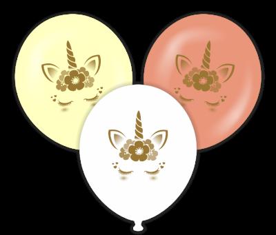 Parti - Unicorn Gold Baskılı Balon 6 Adet