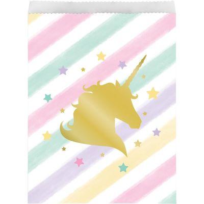 Unicorn Partisi Pırılıtlı Kese Kağıdı 10 Adet