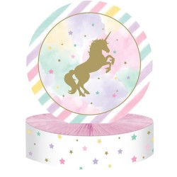 Parti Dünyası - Unicorn Partisi Pırıltılı Masa Orta Süsü