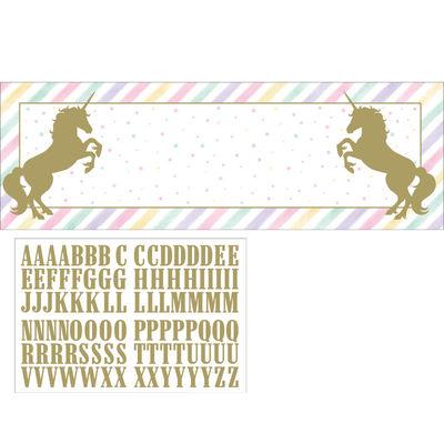 Unicorn Partisi Stickerlı Kişisel Dev Afiş