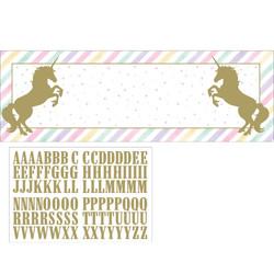 Parti Dünyası - Unicorn Partisi Stickerlı Kişisel Dev Afiş