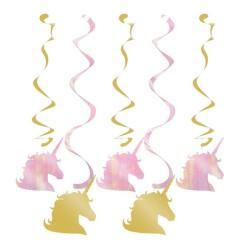 Parti Dünyası - Unicorn Partisi Pırıltılı Süs Dalgası 5 Adet