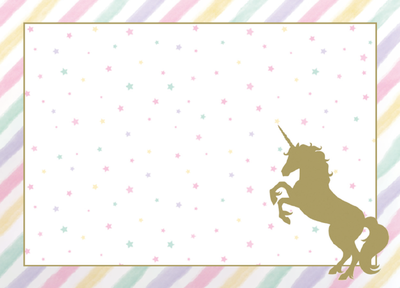 Unicorn Pırılıtılı 8 li Amerikan Servis