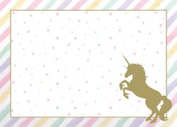 Parti Dünyası - Unicorn Pırılıtılı 8 li Amerikan Servis