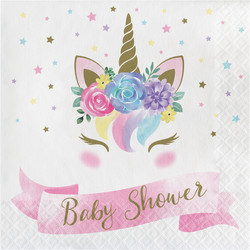 Parti Dünyası - Unicorn Premium Baby Shower Peçete 16 Adet