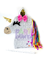 Parti Dünyası - Unicorn Şekilli Pinyata ve Sopası