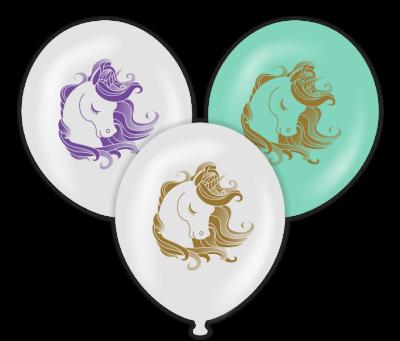 Parti - Unicorn Temalı Baskılı Balon 6 Adet
