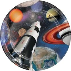 Parti Dünyası - Uzay Partisi 8 li Tabak