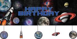 Parti Dünyası - Uzay Partisi Dev Afiş 150 x 50 cm