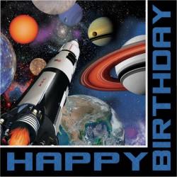 Parti Dünyası - Uzay Partisi Happy Birthday 16 lı Peçete