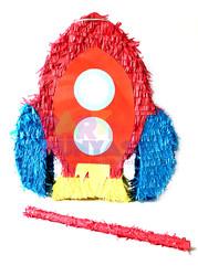 Parti - Uzay Roketi Şekilli Pinyata ve Sopası