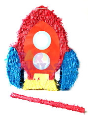 Parti Dünyası - Uzay Roketi Şekilli Pinyata ve Sopası