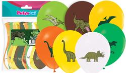 Parti Dünyası - Vahşi Dinozor Baskılı Latex Balon 12 Adet