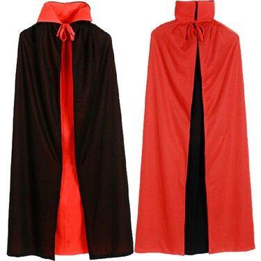 Vampir Pelerini Kırmızı-Siyah Çift Taraflı 130 cm