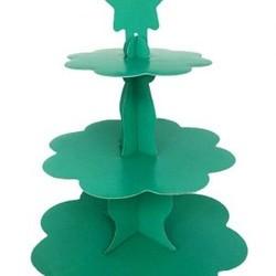 Parti Dünyası - Yeşil Renk Cupcake Standı