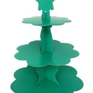 Yeşil Renk Cupcake Standı