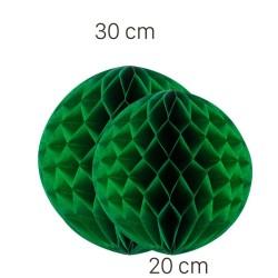 Parti Dünyası - Yeşil Renk Petek Süs Seti 2 Adet 30-20 cm