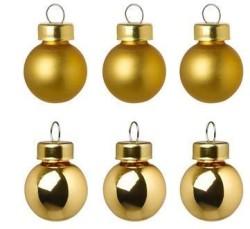 - Yılbaşı Ağaç Süsü Altın Renk 6 cm 6 Adet