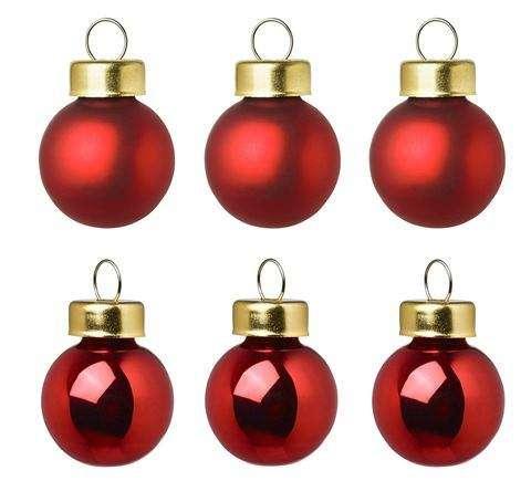Yılbaşı Ağaç Süsü Kırmızı Renk 6 Cm 6 Adet Partidunyasicom