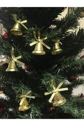 Parti Dünyası - Yılbaşı Ağaç Süsü Altın Renk Çanlar 12 Adet 3 cm
